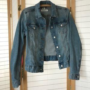 Jean Jacket size 8 classic medium wash denim H&M